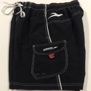 SPEEDO Men's Small Black Swimsuit Shorts
